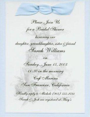 Format For Bridal Shower Invitation - Wedding Invitation Ideas