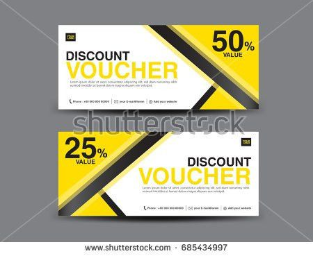 Yellow Gift Voucher Coupon Designticket Banner Stock Vector ...