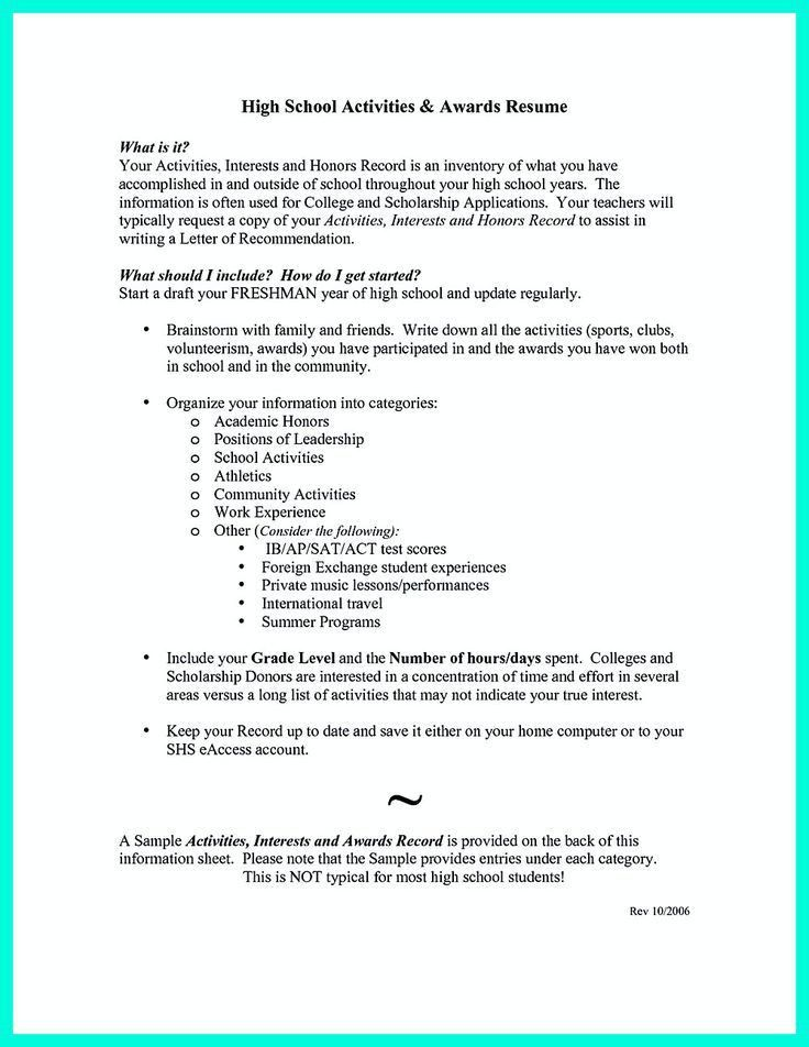 Scholarship Resume Template. Example Of A Resume Format Functional ...