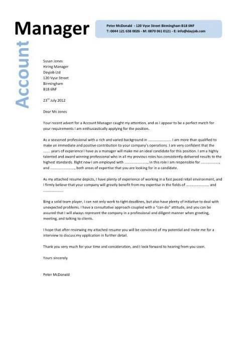 Extraordinary Design Ideas Account Manager Cover Letter 10 PR ...