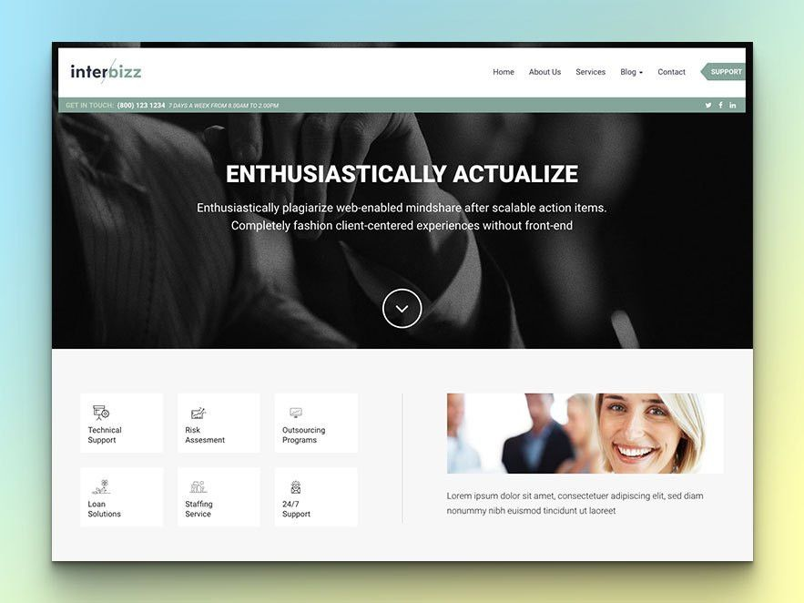 10+ Free Responsive HTML Templates For Business Site - uiCookies