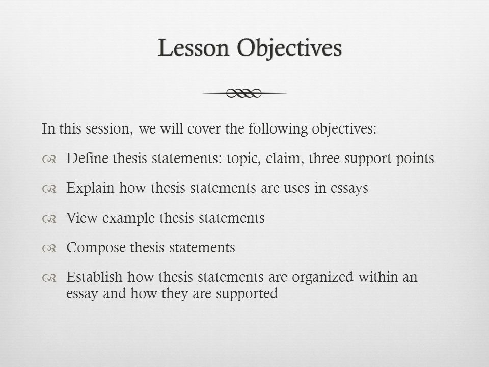 Writing An Effective Thesis Statement - ppt video online download