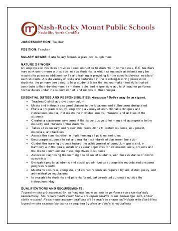 job description preschool/pre-kindergarten teacher - The Lutheran ...
