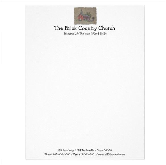11+ Church Letterhead Templates – Free Sample, Example Format ...