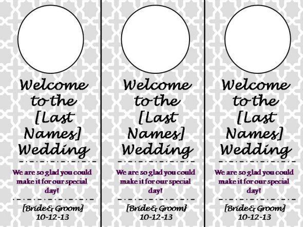 Wedding Door Hangers | Weddingbee Photo Gallery