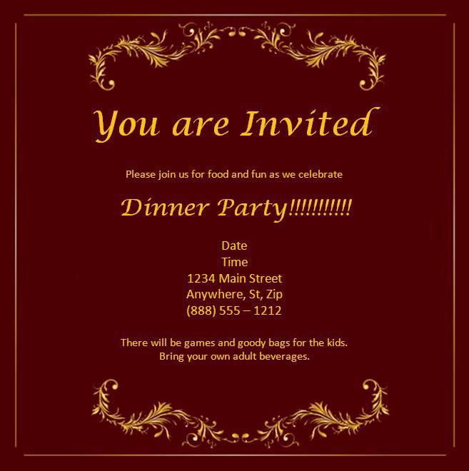 Invitation Template - Best Word Templates