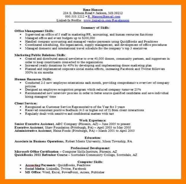 4+ skill based resume sample | janitor resume