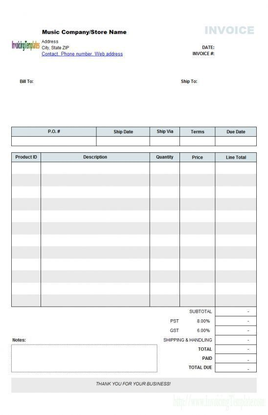 Download Contractor Invoice Template Australia | rabitah.net