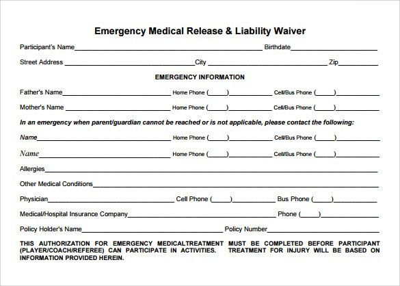 Sample Medical Waiver Form - 9+ Download Free Documents in PDF, Word
