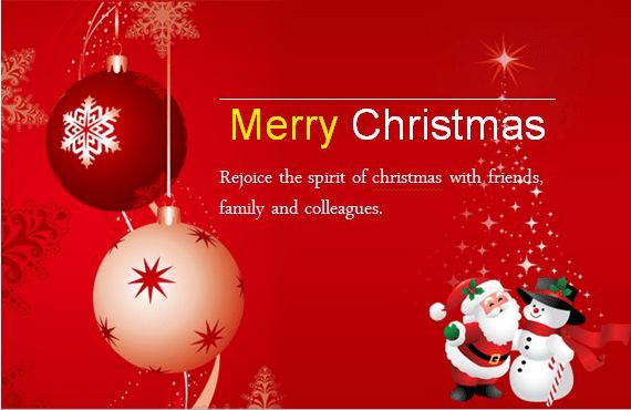 MS Word Colorful Christmas Card Templates | Word & Excel Templates