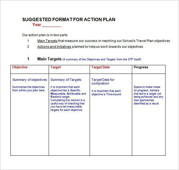 Action Plan Templates Excel [Template.billybullock.us ]