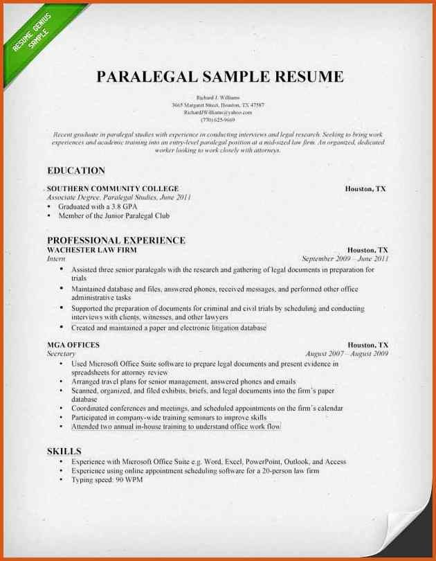 paralegal cover letter | general resumes