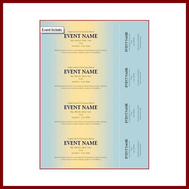 13+ ticket template for mac   sendletters.info