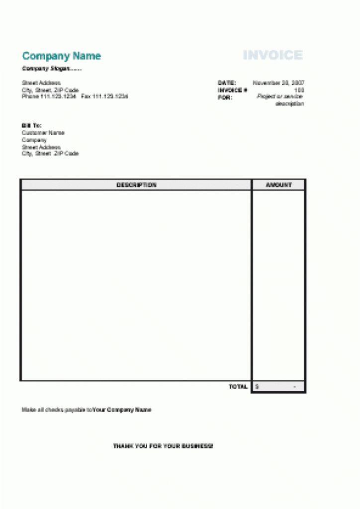 Download Simple Invoice Printable   rabitah.net