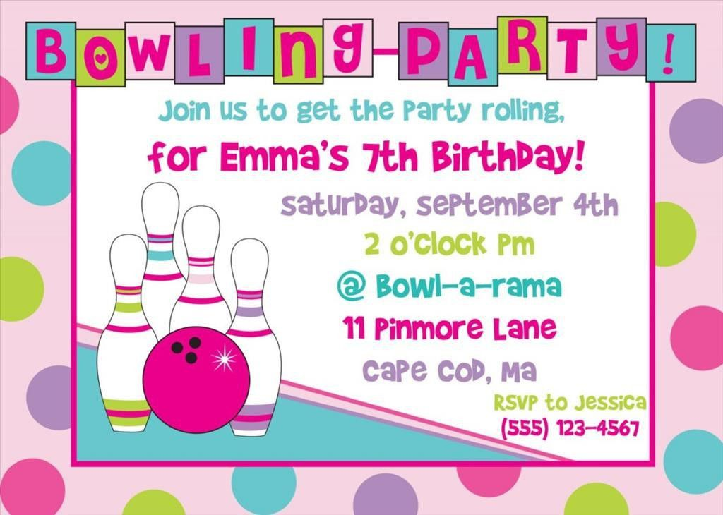 Bowling Invitation Template. Printable Bowling Party Invitations ...