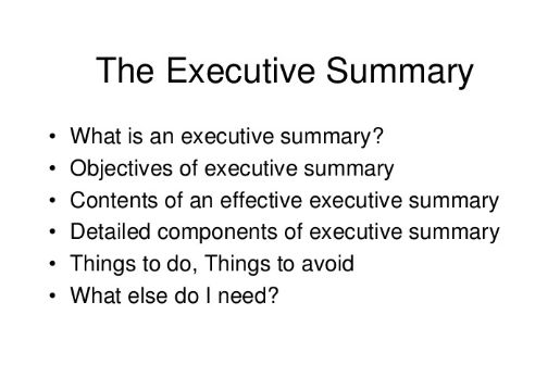 Executive Summary Tips By Business Plan Writing Services in Pune ...
