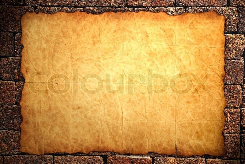 Old notebook paper on wall background | Stock Photo | Colourbox