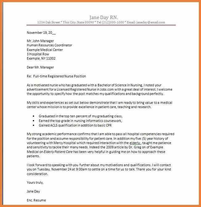 image result for cover letter new graduate nurse. cover letter for ...