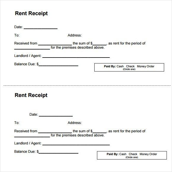 Top 5 Samples Of Rent Receipt Templates - Word Templates, Excel ...