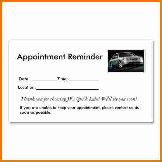 Appointment Reminder Cards.appointment Reminders Business Card ...