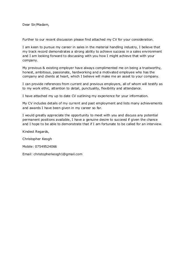 Plain Text Cover Letter - Resume Templates