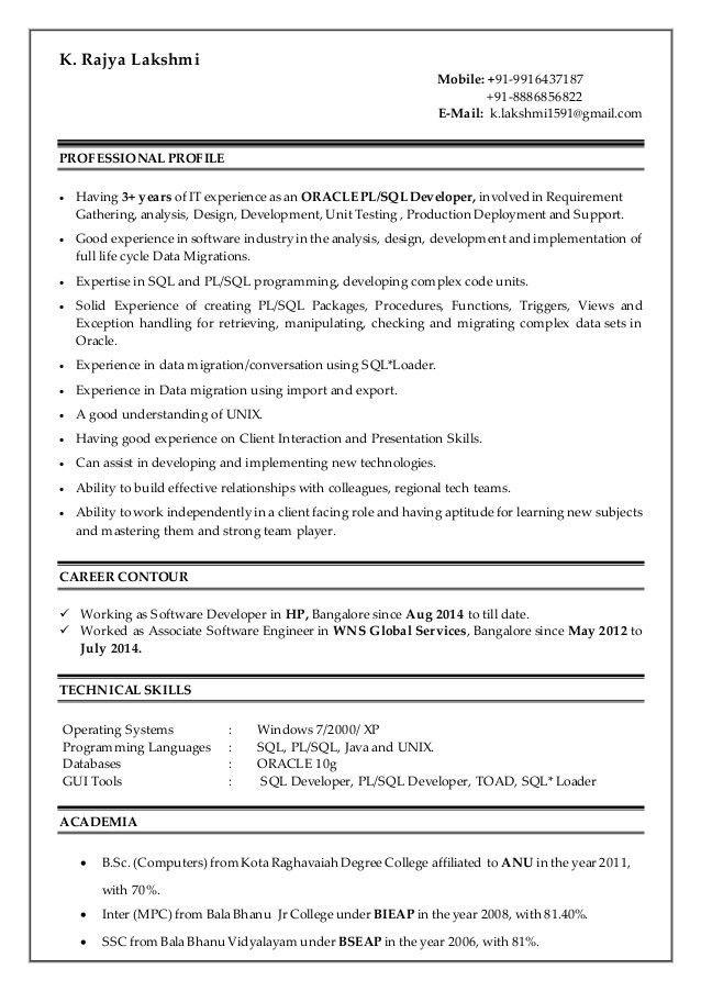 dba resume resume samples for sql server dba resume krishnakumar ...