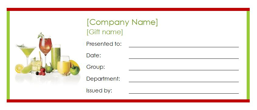 coupon certificate template free