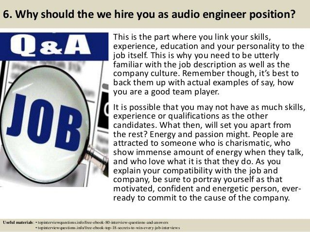 Top 10 audio engineer interview questions and answers