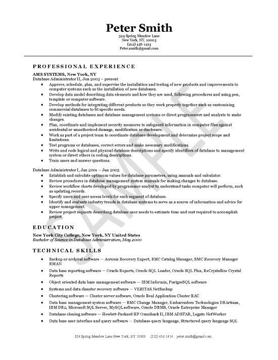 Oracle Dba Resume Examples. image gallery of oracle dba resume 4 ...