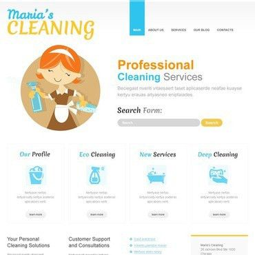 Cleaning services free website templates for free download about ...
