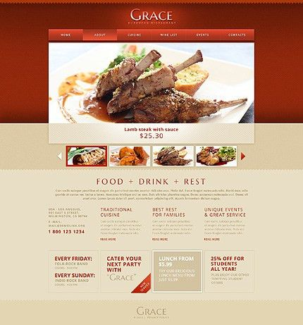 Excellent Cafe and Restaurant Website Templates | Entheos