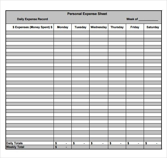 Sample Expense Sheet - 8+ Documents in PDF, Word