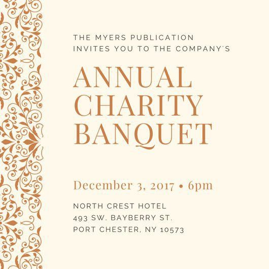 Banquet Invitation Templates - Canva