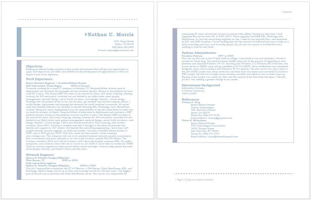 Certified Ethical Hacker Resume | Resume / Job | Pinterest