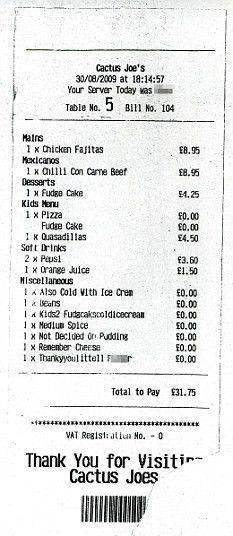 Family horrified after getting restaurant bill describing their ...