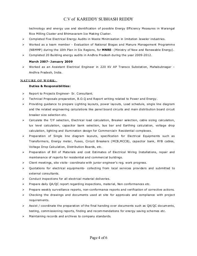 Resume electrical design and site engineer(mep) 9+ years of exp