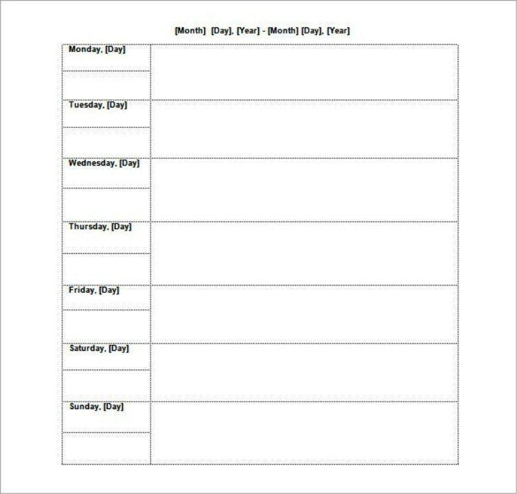 Agenda Calendar Template. Blank Family Agenda Calendar Template 5+ ...