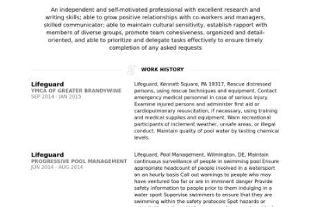 lifeguard resume sample lifeguard resume sample writing tips