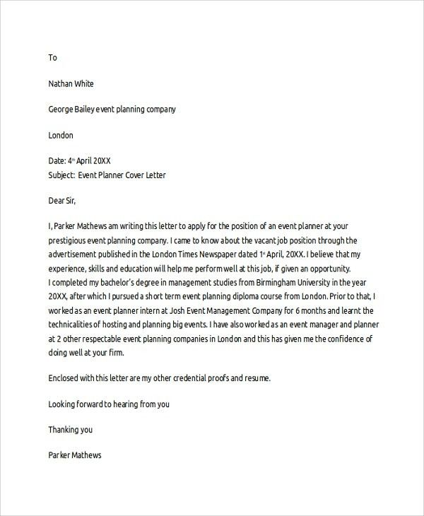 Sample Cover Letter Template - 19+ Free Documents Download in PDF ...
