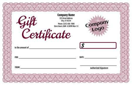 Gift Certificate Maker – Template Trove