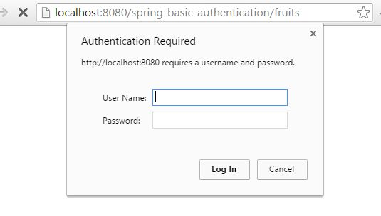 Spring Security Basic Authentication Example using Annotation