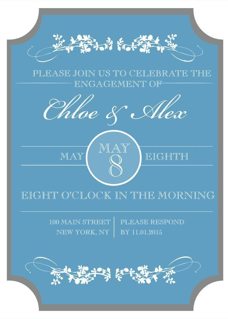 Best 25+ Engagement invitation template ideas only on Pinterest ...