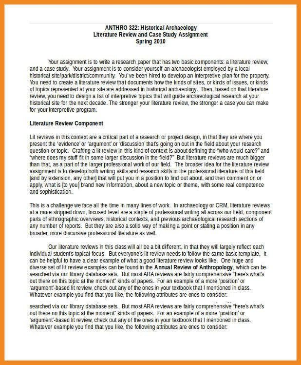 literature review template   art resume examples