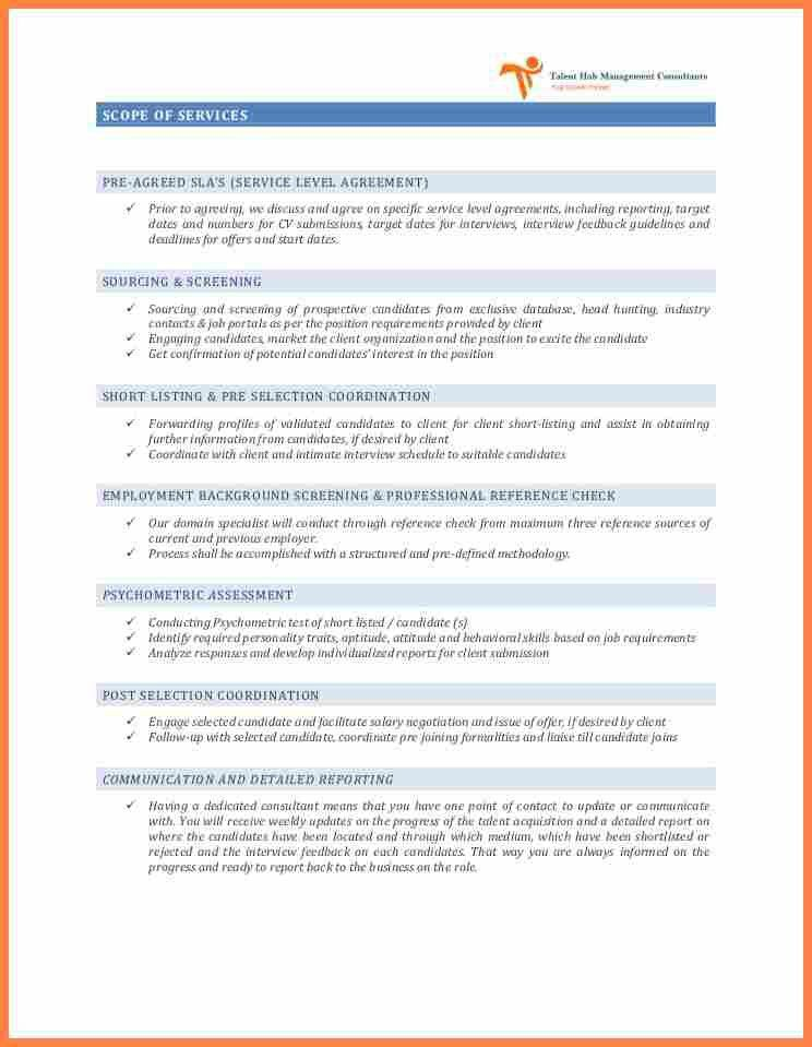 5+ recruitment service level agreement template | Purchase ...