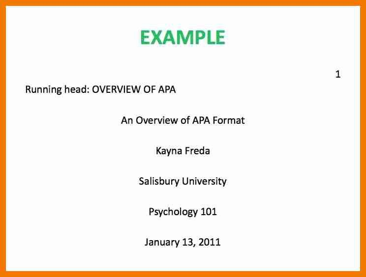5+ title page apa 6th edition | resume holder