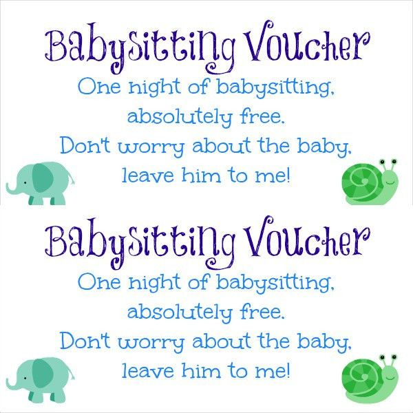Baby Sitting Coupon Template – 10+ Free Printable PDF Documents ...