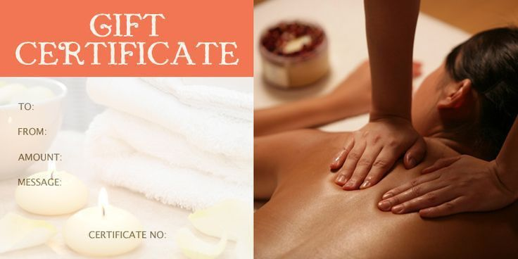 Massage Gift Certificate Template | Rural Relaxation | Pinterest ...
