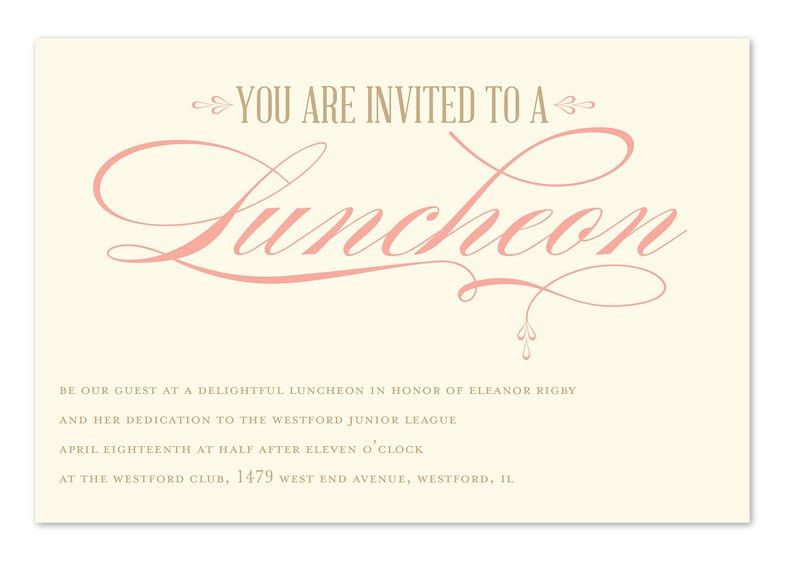 Luncheon Elegance - Corporate Invitations by Invitation ...