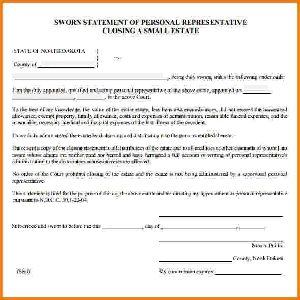 12 sworn financial statement | Financial Statement Form
