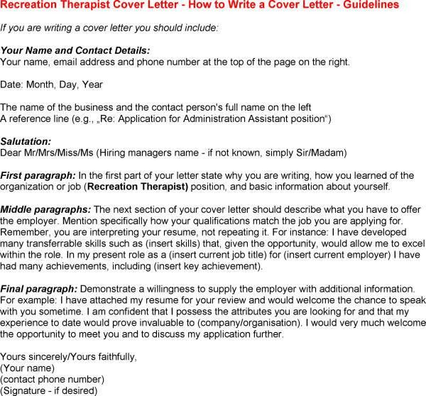 Respiratory Therapy Cover Letter